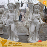 Garden Marble Statues of Angel Cupid sculpture