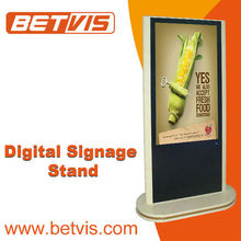 Non-PC based free standing lcd tv stand kiosk mall display hd video