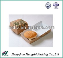 2014 Hot Custom cardboard boxes for packaging/paper food take out boxes/chicken burger boxes