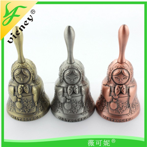custom shape metal dinner bell antique souvenir dinner table bell