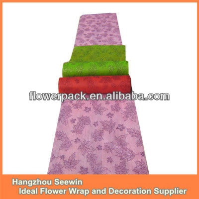 Spring pattern paper roll table runner