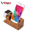 new products 2016 2 in 1 wooden pad/watch/mobile phone charging holder stand with USB charger mobile phone accessories