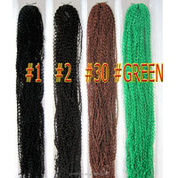 Micro Knot ZIZI Braids Synthetic Hair Extension Afro Hair Extensions Premium Quality 24inch