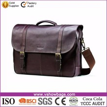 China suppliers multifunctional Leather Ultrabook messenger bags for Men