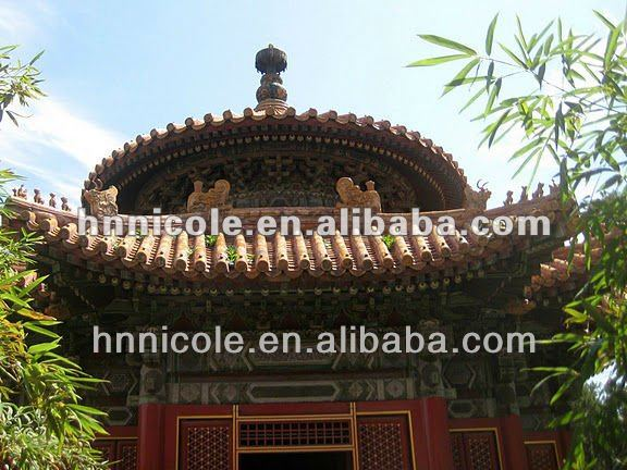 best roofing material for flat roof with Asian classical building
