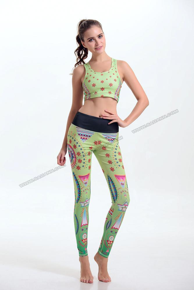 Women's girls wearing gym wear yoga suit wholesaler