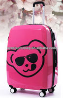 "20"" 24"" 28"" bear cute cartoon luggage bag of wheeled cabin luggage sepcial model differ from orther luggage"
