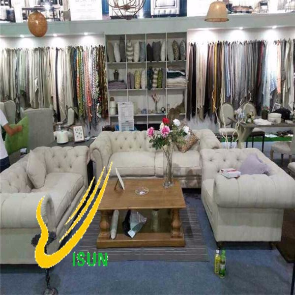 100% poly imitation linen for sofa and Upholstery