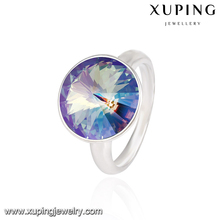 14115-xuping fashion silver color engagement wedding new crystals from Swarovski ring models for women