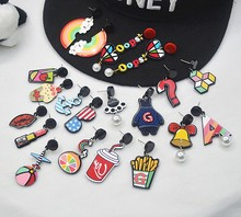 Japan &South Korea new earrings harajuku fashion cartoon unicorn& Coke& bar l fun cute acrylic earring