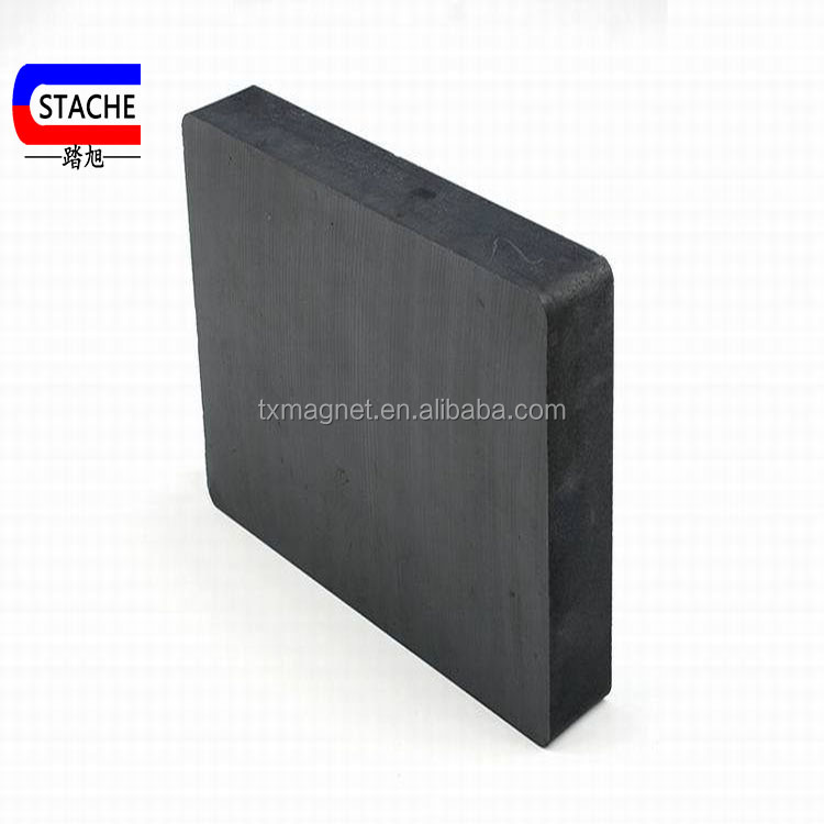 Manufacturers of custom-made large size black ferrite magnet