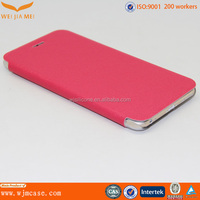 Attractive Plastic Back PU Leather Flip Design For IPhone 6 Plus Fancy Cover Manufacturer