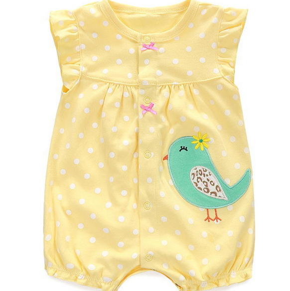 2016 Summer Lovely Animal Printing Baby Girl Jumpsuit