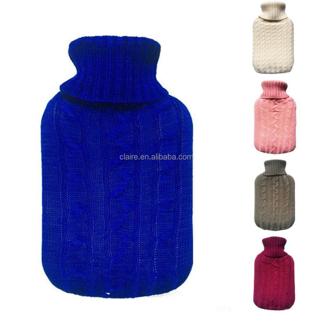 PVC hand warmer with knitted cover with plastic box