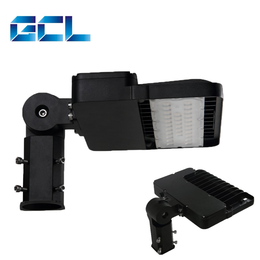 CE ETL LED Shoebox 60W Retrofit Kit Pole Light with Motion Sensor, Aluminum LED
