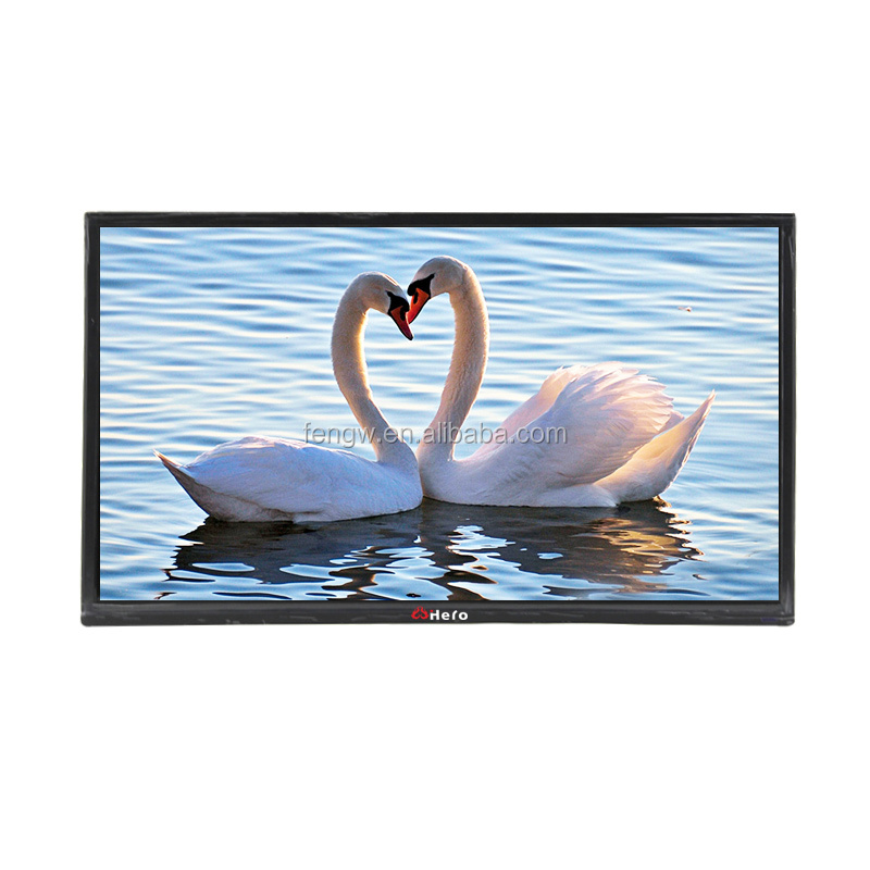 china 42 inch big brand led tv television with front glass