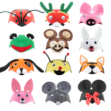 Animal Cartoon Party Hat for Child Birthday Party Wedding Christmas Headdress Headwear Costume Cloth Non-woven for Kids children