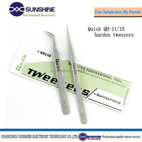 Quick multipurpose personalized non-magnetic slanted or point tweezer stainless steel tweezers