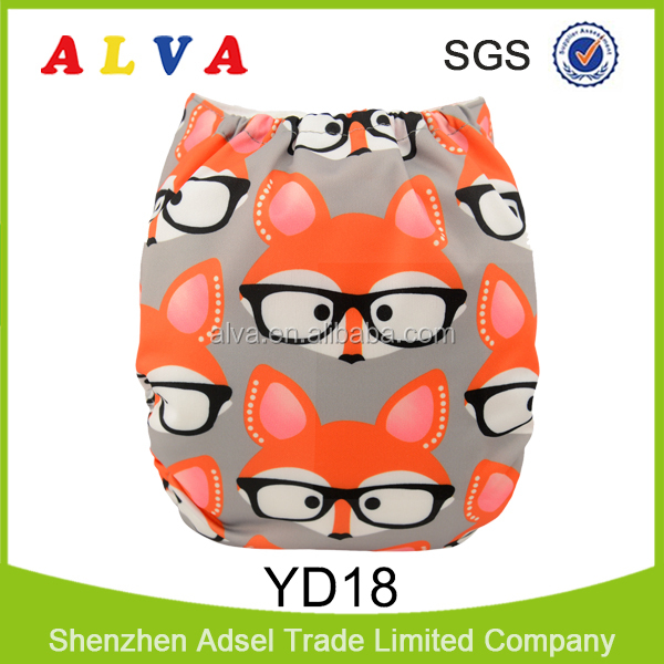 Alva New Animal and Plant Pattern Design Eco-friendly Cloth Baby Diaper Stock