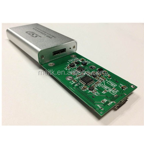 SSD enclosure case/MSATA SSD to USB 3.0 adapter with enclosure