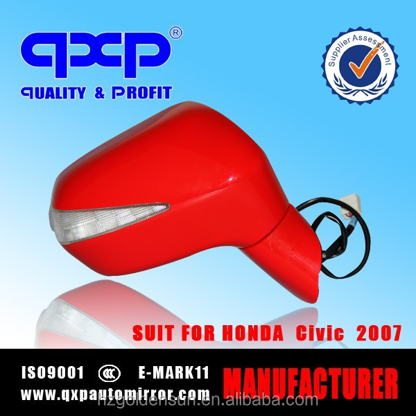auto led side mirror for honda civic suitablely 2007 color Red 5 wires