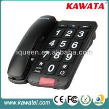 Big button corded remote control telephone for old people