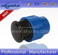 Manufacturer Good quality PP COMPRESSION FITTINGS PP PLUG PE PIPE