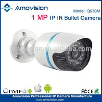 "Amovision popular 1/4""CMOS Q630M 1.0MP IR 15m android mobile phones no camera bullet ip camera"