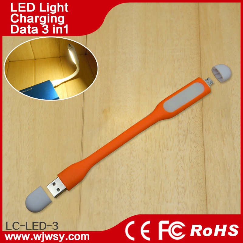 Multi Function Short Phone Cord USB Cable With LED Light for Charging Cell phone Cords