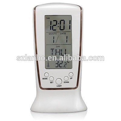 Digital LCD Alarm Clock Calendar Thermometer with Blue Back Light cheap,digital wall clock thermometer
