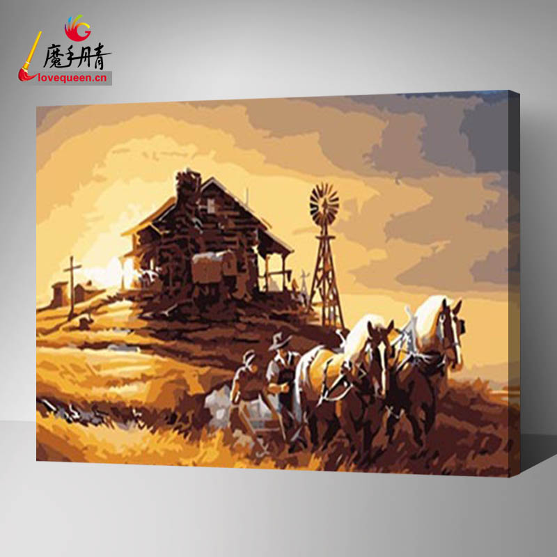 Love Queen abundant harvest painting diy oil painting by number for wholesale