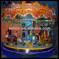 2013 Hot Selling Amusement Children Games Carousel/Playground Rides Carousel/Kids Games Merry Go Round