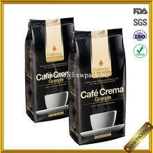 three-layer laminated aluminum foil coffe packaging bag /gusset coffee bag