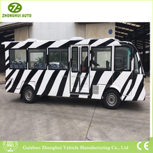 Customized EV elevtric vehicle zebra strips sightseeing car