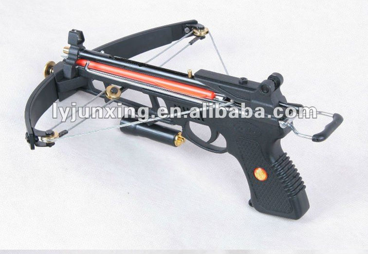 Mini pistol compound crossbow for hunting fishing view for Fishing crossbow pistol