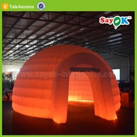 new designs inflatable igloo misting party dome tent with led lights