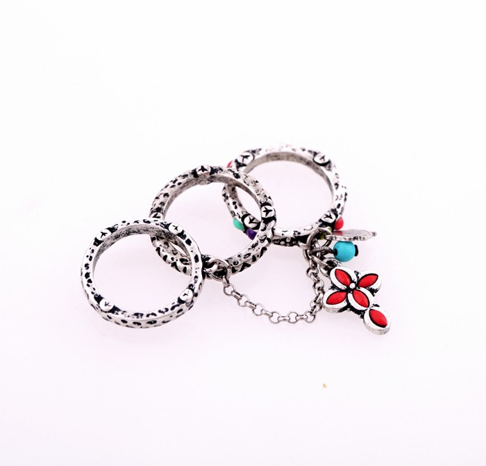 New Designs 2016 Fashion Jewelry Antique Cross Silver Wholesale <strong>Ring</strong>