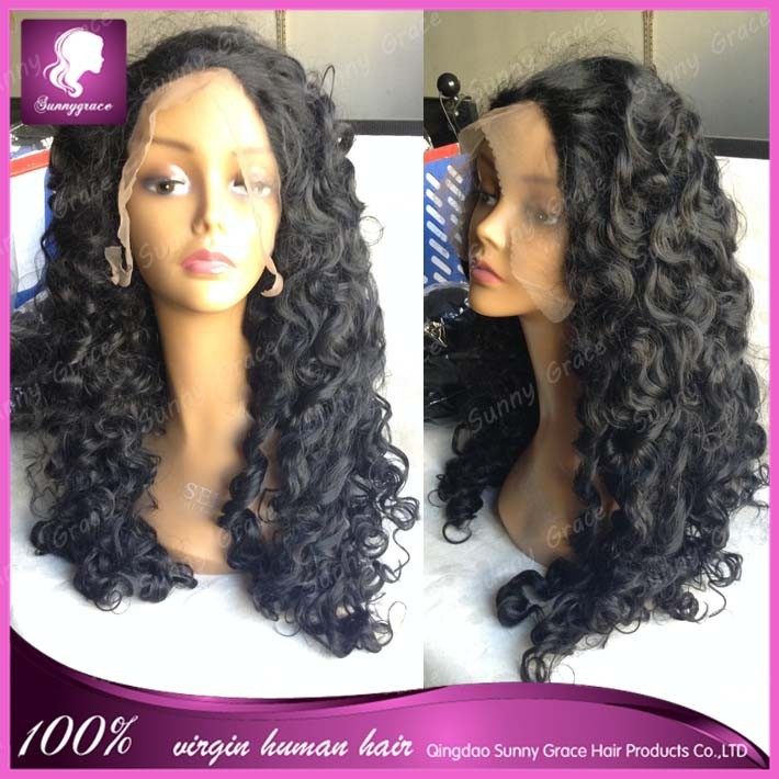 "More natural looking synthetic lace front wig in 8-30"" color #1b any style could be choosed"