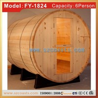 High quality best sale Waterproof traditional barrel sauna house