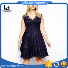 Fat women big size elegant lace dresses good quality plus size women dress clothing