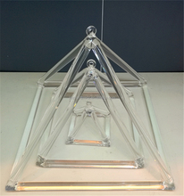 Sound Healing Quartz Crystal Singing Pyramid One Set