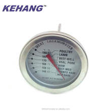 FDA dial round BBQ meat food long probe thermometer