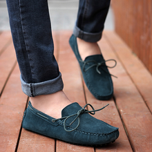 New Fashion Men Peas Leather Breathable Suede Loafers Moccasins Driver Casual Shoes