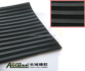Outdoor Easily Glued Jute-Based America Ribbed Rubber Flooring