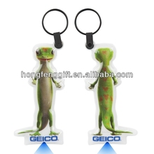A small lizard shape GEICO brands led keychain,keylight
