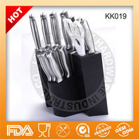 Hot sell stainless steel with hollow handles knife for kitchen KK019,Limited warranty