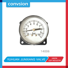 free sample mini screw type industrial equipment back connection pressure gauge