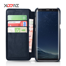 XOOMZ Wallet Design PU Leather Phone Cover Case for Samsung Galaxy S8 S8 plus