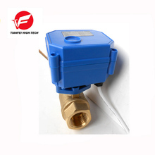 CWX-15Q DN15 brass female-female BSP DC12V CR01 electric motor ball valve for water treatment machine