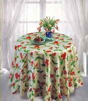 round table cloth printed oxford
